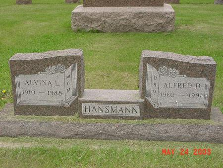 SIEBRANDS HANSMANN, ALVINA - Lyon County, Iowa | ALVINA SIEBRANDS HANSMANN