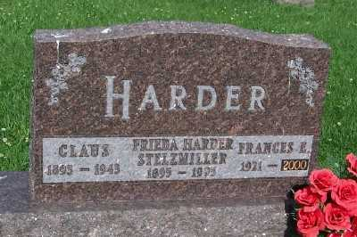 HARDER STELZMILLER, FRIEDA - Lyon County, Iowa | FRIEDA HARDER STELZMILLER