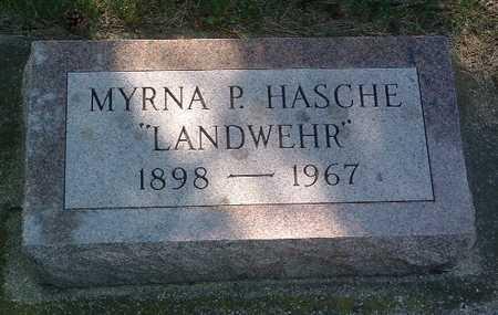LANDWEHR HASCHE, MYRNA P. - Lyon County, Iowa | MYRNA P. LANDWEHR HASCHE