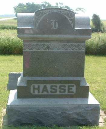 HASSE, HEADSTONE - Lyon County, Iowa | HEADSTONE HASSE