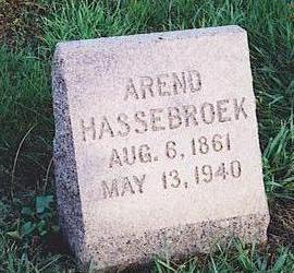 HASSEBROEK, AREND - Lyon County, Iowa | AREND HASSEBROEK