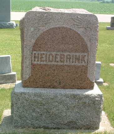HEIDEBRINK, HEADSTONE - Lyon County, Iowa | HEADSTONE HEIDEBRINK