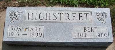 HIGHSTREET, BERT - Lyon County, Iowa | BERT HIGHSTREET