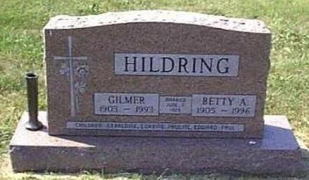 HILDRING, BETTY AMELIA - Lyon County, Iowa | BETTY AMELIA HILDRING