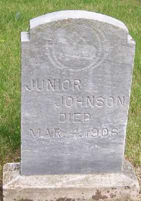 JOHNSON, JUNIOR - Lyon County, Iowa   JUNIOR JOHNSON