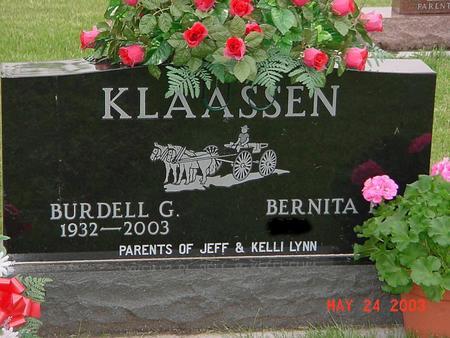 KLAASSEN, BURDELL - Lyon County, Iowa | BURDELL KLAASSEN