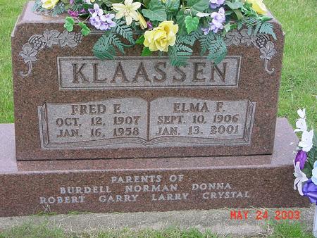 KLAASSEN, ELMA - Lyon County, Iowa | ELMA KLAASSEN