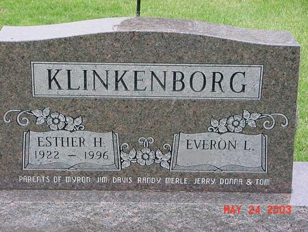 KLINKENBORG, ESTHER - Lyon County, Iowa | ESTHER KLINKENBORG