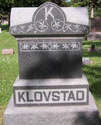 KLOVSTAD, FAMILY HEADSTONE - Lyon County, Iowa | FAMILY HEADSTONE KLOVSTAD