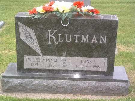 KLUTMAN, WILHELMINA M. - Lyon County, Iowa | WILHELMINA M. KLUTMAN
