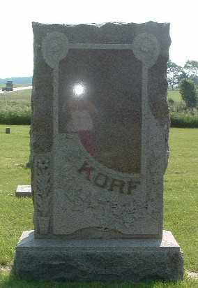 KORF, HEADSTONE - Lyon County, Iowa | HEADSTONE KORF