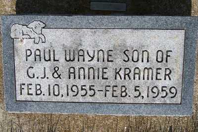 KRAMER, PAUL WAYNE - Lyon County, Iowa | PAUL WAYNE KRAMER