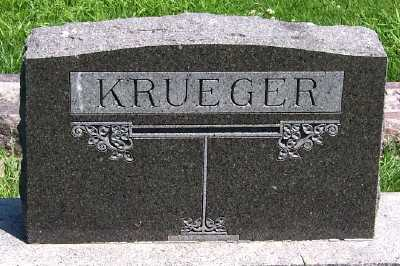 KRUEGER, FAMILY HEADSTONE - Lyon County, Iowa | FAMILY HEADSTONE KRUEGER