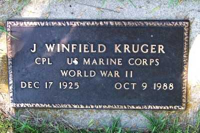KRUGER, J. WINFIELD - Lyon County, Iowa | J. WINFIELD KRUGER