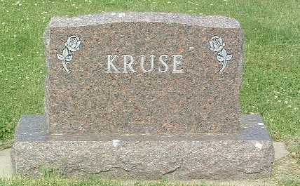KRUSE, HEADSTONE - Lyon County, Iowa | HEADSTONE KRUSE