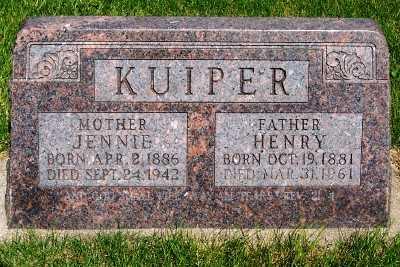 KUIPER, HENRY - Lyon County, Iowa | HENRY KUIPER