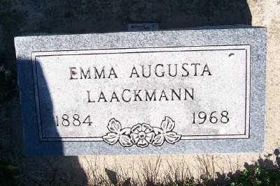 LAACKMANN, EMMA AUGUSTA - Lyon County, Iowa | EMMA AUGUSTA LAACKMANN