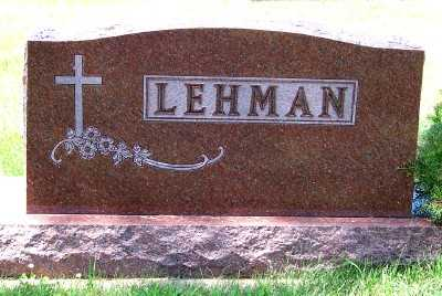 LEHMAN, FAMILY HEADSTONE - Lyon County, Iowa | FAMILY HEADSTONE LEHMAN