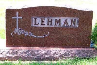 LEHMAN, FAMILY HEADSTONE - Lyon County, Iowa | FAMILY HEADSTONE LEHMAN
