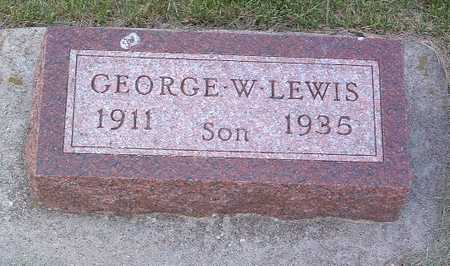 LEWIS, GEORGE W. - Lyon County, Iowa | GEORGE W. LEWIS