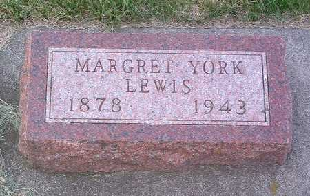 YORK LEWIS, MARGRET - Lyon County, Iowa | MARGRET YORK LEWIS