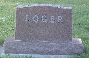 LOGER, FAMILY HEADSTONE - Lyon County, Iowa | FAMILY HEADSTONE LOGER