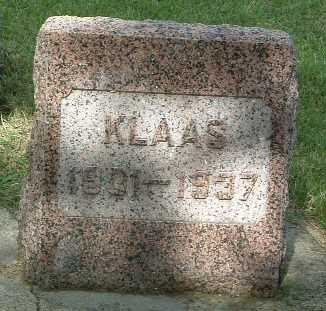 LURSEN, KLAAS - Lyon County, Iowa   KLAAS LURSEN