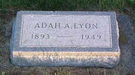 LYON, ADAH A. - Lyon County, Iowa | ADAH A. LYON