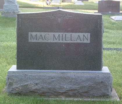 MACMILLAN, FAMILY HEADSTONE - Lyon County, Iowa | FAMILY HEADSTONE MACMILLAN