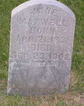 MAXWELL, JANE - Lyon County, Iowa | JANE MAXWELL
