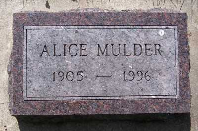 MULDER, ALICE - Lyon County, Iowa | ALICE MULDER