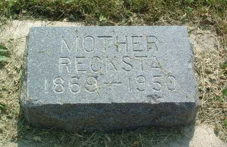 RECKSTA, MOTHER - Lyon County, Iowa | MOTHER RECKSTA