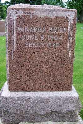 RICKE, MINARD R. - Lyon County, Iowa | MINARD R. RICKE