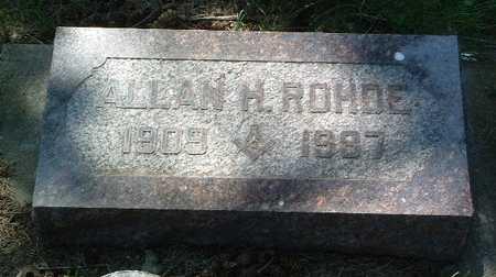 ROHDE, ALLAN H. - Lyon County, Iowa | ALLAN H. ROHDE