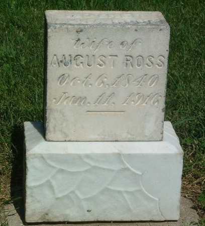 ROSS, AUGUST MRS. - Lyon County, Iowa   AUGUST MRS. ROSS