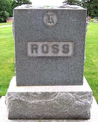 ROSS, HEADSTONE - Lyon County, Iowa | HEADSTONE ROSS