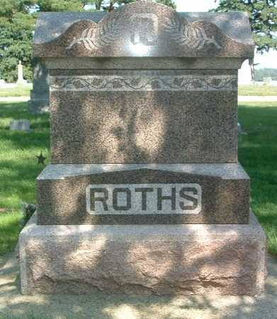 ROTHS, HEADSTONE - Lyon County, Iowa | HEADSTONE ROTHS