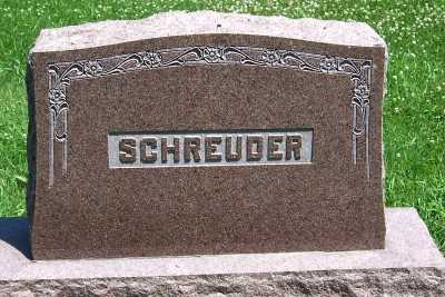 SCHREUDER, FAMILY HEADSTONE - Lyon County, Iowa | FAMILY HEADSTONE SCHREUDER
