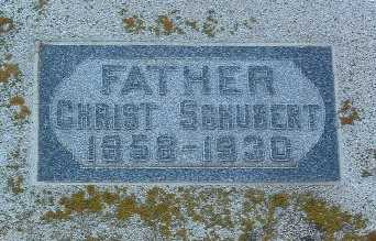 SCHUBERT, CHRIST - Lyon County, Iowa | CHRIST SCHUBERT