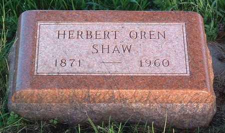 SHAW, HERBERT OREN - Lyon County, Iowa | HERBERT OREN SHAW