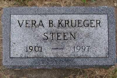 KRUEGER STEEN, VERA B. - Lyon County, Iowa | VERA B. KRUEGER STEEN