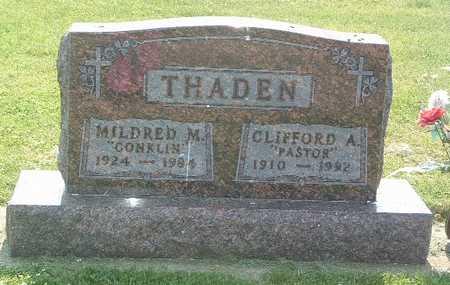 THADEN, CLIFFORD A. - Lyon County, Iowa | CLIFFORD A. THADEN