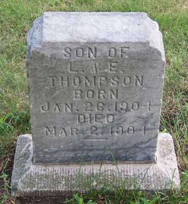 THOMPSON, HARRY (SON OF L.& E.) - Lyon County, Iowa | HARRY (SON OF L.& E.) THOMPSON