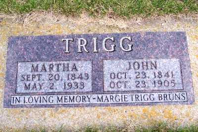 TRIGG, MARTHA - Lyon County, Iowa | MARTHA TRIGG