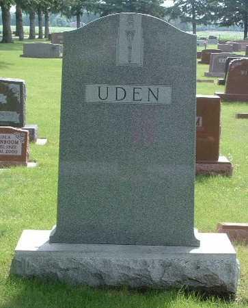 UDEN, HEADSTONE - Lyon County, Iowa | HEADSTONE UDEN