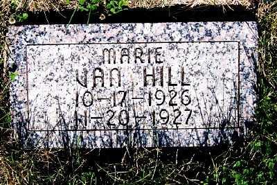 VAN HILL, MARIE - Lyon County, Iowa | MARIE VAN HILL