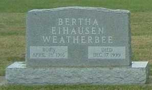 WEATHERBEE, BERTHA - Lyon County, Iowa | BERTHA WEATHERBEE