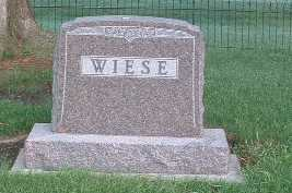 WIESE, HEADSTONE - Lyon County, Iowa | HEADSTONE WIESE