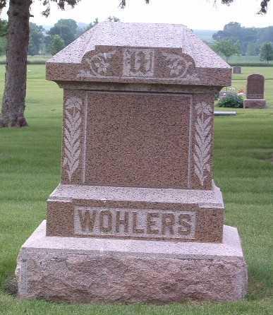 WOHLERS, HEADSTONE - Lyon County, Iowa | HEADSTONE WOHLERS