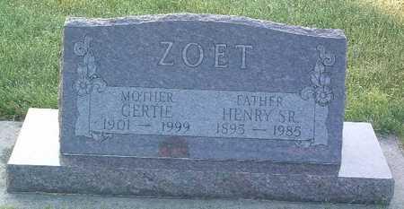 ZOET, GERTIE - Lyon County, Iowa | GERTIE ZOET